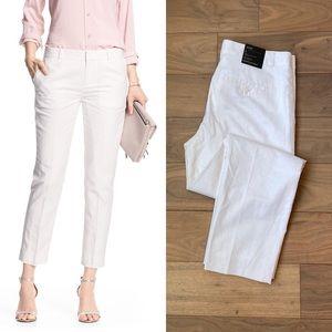 BANANA REPUBLIC White Linen Avery Pants